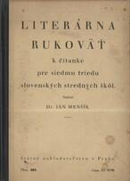 Literárna rukoväť k čítanke pre siedmu triedu slovenských stredných škôl