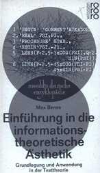 Einführung in die informationstheoretische Ästhetik