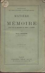 Matière et mémoire