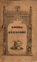 Kwítka náhrobní, kteréž sebral a rozmnožil F. W. N