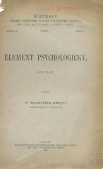 Element psychologický