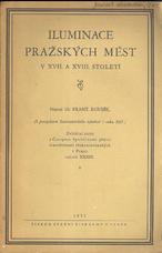 Iluminace pražských měst v XVII. a XVIII. století