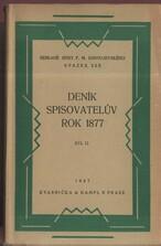 Deník spisovatelův za rok 1877