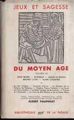 Jeux et sapience du moyen age