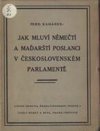 Jak mluví němečtí a maďarští poslanci v československém parlamentě