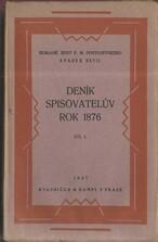 Deník spisovatelův za rok 1876