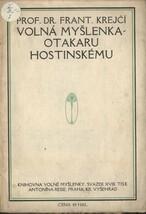 Volná myšlenka - Otakaru Hostinskému