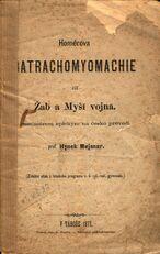 Homérova Batrachomyomachie, čili, Žab a myší vojna