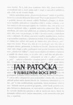 Jan Patočka v jubilejním roce 2017