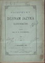 Príspevky k dejinám jazyka slovenského