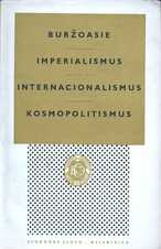 Buržoasie - Imperialismus - Internacionalismus - Kosmopolitismus