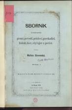 Sborník slovenských národních piesni, povestí, prísloví, porekadiel, hádok, hier, obyčajov a povier