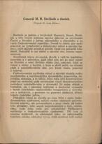 Generál M. R. Štefánik a dnešek