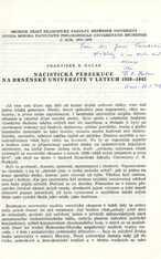 Nacistická perzekuce na brněnské univerzitě v letech 1939-1945
