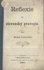 Reflexie na slovenský pravopis
