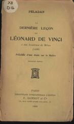 La Dernière leçon de Léonard de Vinci à son Académie de Milan (1499)