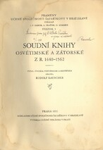 Soudní knihy osvětimské a zátorské z r. 1440-1562