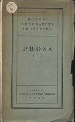 Rudolf Borchardts Schriften