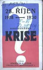 Dnešní krise v ČSR a sjednocení socialistů